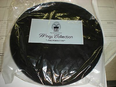 GENUINE GI US ARMY BLACK BERET - NEW IN PACKAGE - SIZE 7 1/4