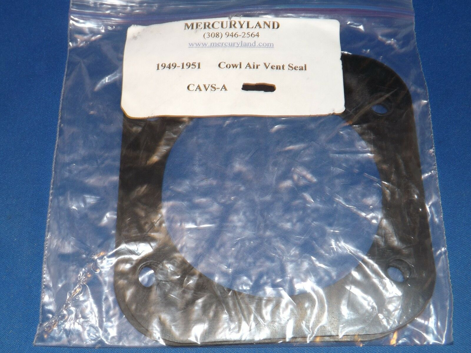 Mercuryland 1949-1951 Cowl Air Vent Seal CAVS-A