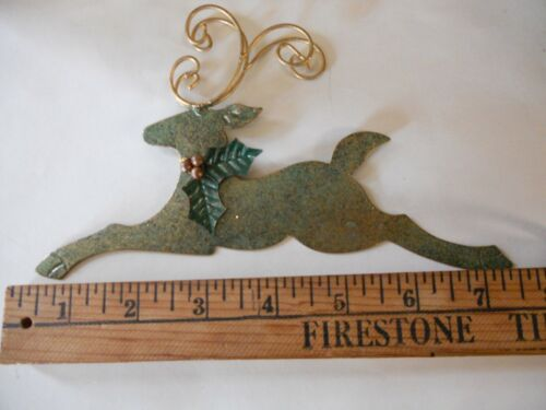 Ornament Vintage Reindeer Hand Forged from Recycled Metal by Rana from Indonesia
