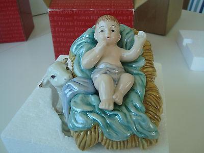 FITZ & FLOYD CLASSIC NATIVITY BABY JESUS FIGURINE 19/202 CHRISTMAS