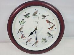 HOWARD MILLER Bird Clock - 12 singing bird sounds - 13 round - new batteries
