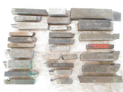 Lot Of 28 Kennametal Valenite Etc Carbide Tipped Lathe Steel Cutting Tool Bits
