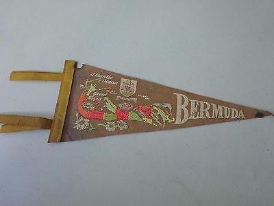 1950's  Bermuda Map Felt Pennant