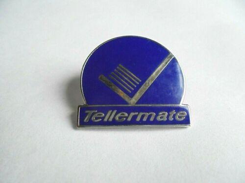 Cool Vintage Tellermate Bank Teller Cash Counter Advertising Lapel Pin Pinback