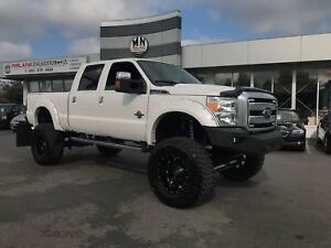 "2016 Ford F350 Platinum DIESEL MASSIVE LIFT 40"" TUNED & DELETED"