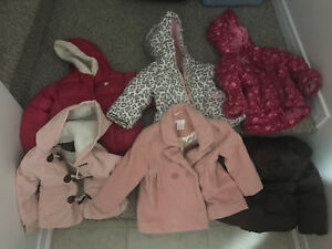 Girls toddler jackets and coats $5-$10