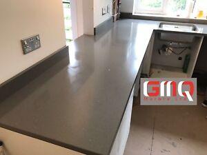 Grey Sparkle Quartz Kitchen Worktop | All colours available!