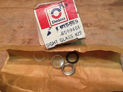 NOS GM Delco 73 74 75 76 Corvette A/C Compressor Sight Glass Kit  6599451 15-569