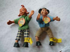 Steiff: Max und Moritz Biegefiguren Puppe mit KFS + Gratisbeigabe: kleine Angel