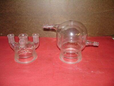 100 Ml Kontes Bantamware Jacketed Reaction Vessel With 4 Neck Lid 1922 1420