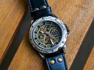 SHENHUA PU Steampunk Self-Winding Wristwatch