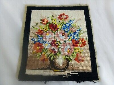 Flowers In A Vase Vintage Style Tapestry 23 x 27cm approx