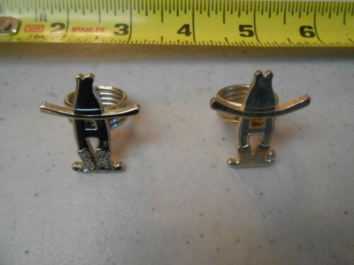 RARE SET OF 2 HOUSTON LIVESTOCK SHOW RODEO BANDANNA RING / TWO RINGS HLSR TEXAS