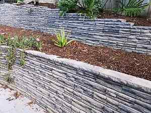 Adbri Natural impressions link retaining wall blocks and caps. Kenmore Hills Brisbane North West Preview