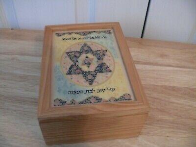 Bat Mitzvah Box - Bat Mitzvah Music/Jewelry Box - Plays Hava Nagila - Hinged Lid - Used