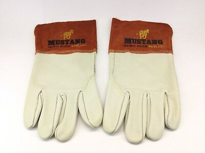 Mcr Safety 4950xl Mustang Premium Grain Cow Migtig Welder Mens Gloves W Split