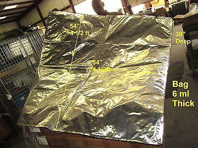 New 2 Each X-large 3d Anti Static Shielding Silver Bag 54 X 54 X 30 6ml