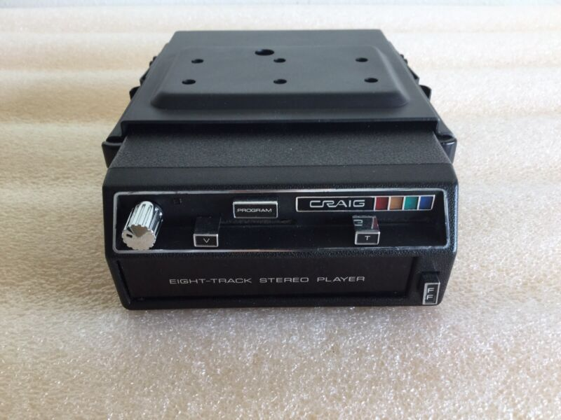 CRAIG 8-TRACK CAR STEREO MINI SLIDE MOUNT TAPE PLAYER