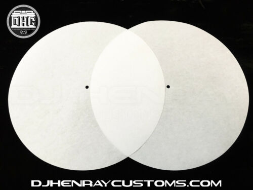 white Ultra Thin Dj Slips for use w your existing slip mats for better slickness