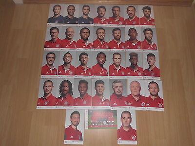 FC Bayern München 30 Stück Autogrammkarten Saison 2016/2017 Top