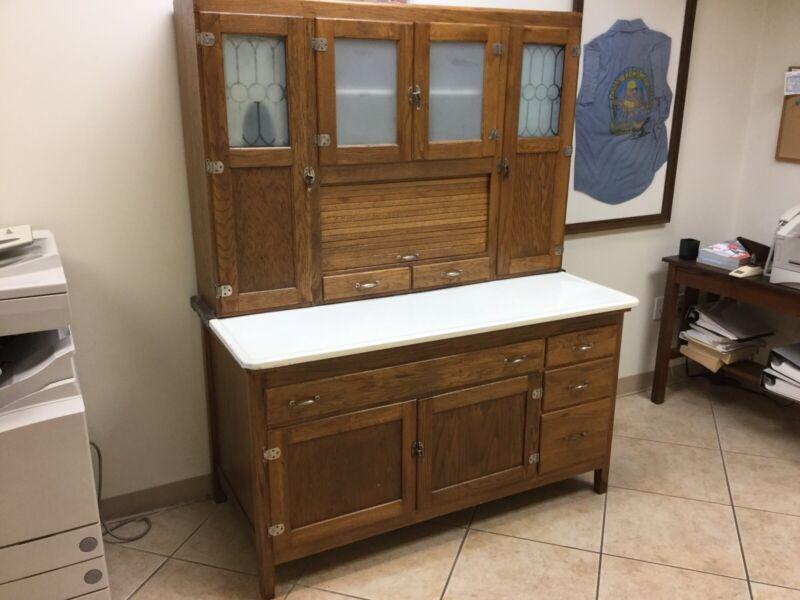 Antique Oak Hoosier Cabinet Or Kitchenette