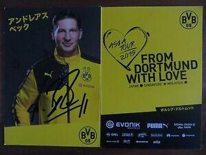 Handsignierte AK Autogrammkarte *ANDREAS BECK* Borussia Dortmund Asien Tour 2015
