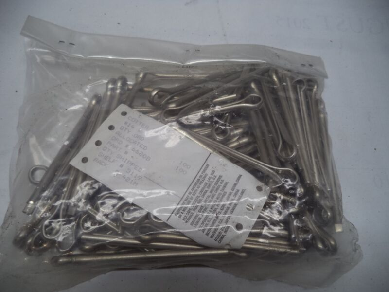 """Qty = 100: 18-8 Stainless Steel Cotter Pins #14 x 3"""" long"""