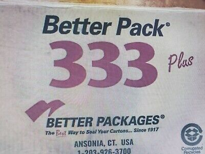 Better Pack 333 Plus Manual Gummed Tape Dispenser Empty Carton With Inserts
