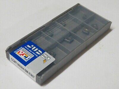 10 Pcs Iscar Carbide Inserts Ccmt 2-1-sm Ccmt 060204-sm Grade Ic907