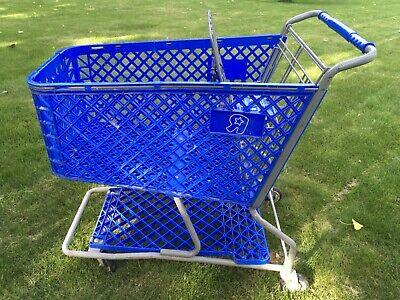Toys R Us Shopping Cart Toy Kids Store Carts Shop Fun Blue Vintage