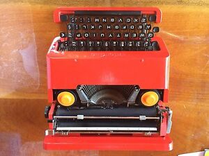 Olivetti red typewriter with carry case - retired collectible Atherton Tablelands Preview