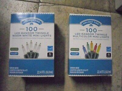 100 Counts LED Random Twinkle Mini Lights Warm White or Multicolor 22.4 FT L   ()
