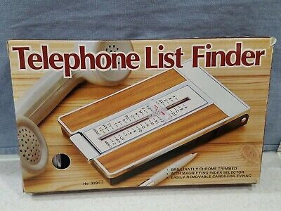 Vintage Telephone List Finder Flip Up Phone Directory Nib With Refill Rolodex