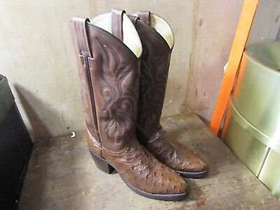 Dan Post Womens Cognac Ostrich Quill Restored Boots Size 8.5 **Low Price**](Boots Low Price)