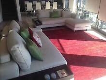 King Jasper White Leather Lounge Albert Park Port Phillip Preview