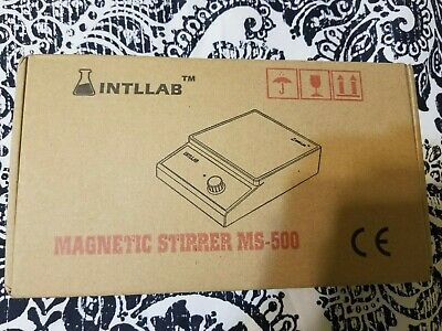 Intllab Magnetic Stirrer Magnetic Mixer With Stir Bar New Open Box-works-