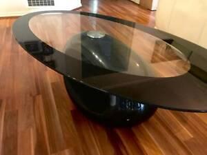 Unique black coffee table