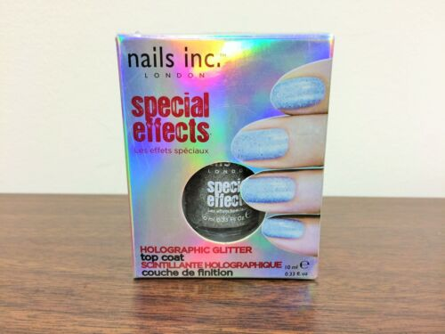 Nails Inc. London Special Effects Holographic Glitter Nail Polish .33 OZ- NIB