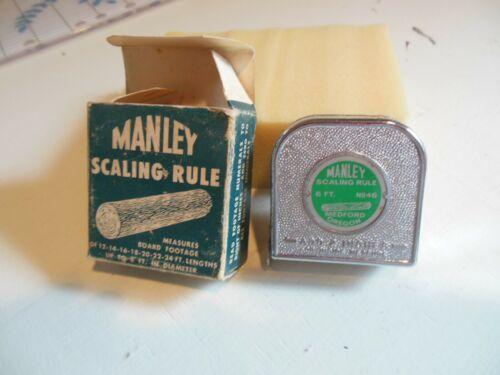 """VINTAGE - """"MANLEY"""" - 6 Ft. SCALING RULE - #46 MEDFORD OREGON TIMBER - NIB!"""