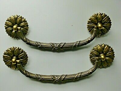 Drawer Pulls Vintage Brass Bail Pulls 6 in. Lot of 2