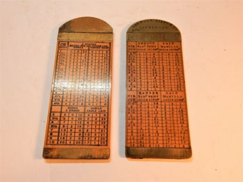 2 Boxwood Rope Gauge Rules with Brass Caliper 1 J. RABONE & SONS  1 UNKNOWN