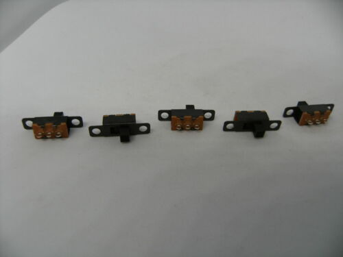 5 Pack Toggle Slide Switch 2 Positions 3 Pins Power Sound Audio 1P2T 4mm Handle