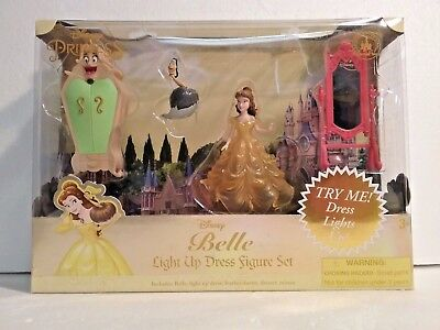 Belle Light Up Dress Figure Polly Play Set Beauty & The Beast Disney Theme Parks - Harry Potter Themed Dress