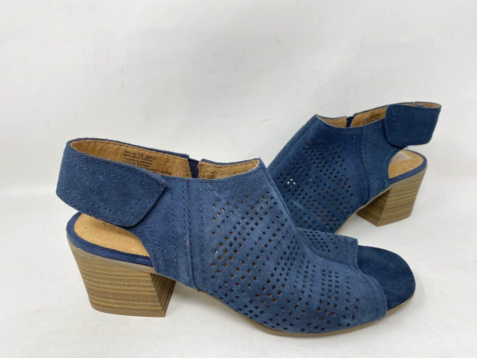 NEW! Sonoma Women's Lisbeth Strap On Suede Ankle Booties Nav