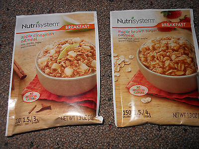 Nutrisystem Maple Brown Sugar Or Apple Cinnamon Oatmeal 7 Breakfast