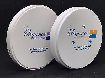 Dental Zirconia Blocksdiscs 98 Mm High Strength Elegance Premium Tm