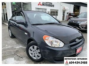 2011 Hyundai Accent L; Local & No accidents! New front brakes!