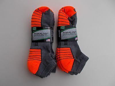 Six Sports Socks (Top Flite Made In USA Mens Low Cut Sport Socks Size 9-13 Six Pairs  )
