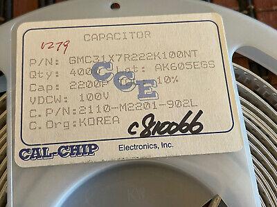 Ceramic Capacitor 2200 Pf 100 V Smd 1206 230 Pcs