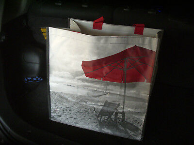 B&W LG 16x16 Costco reusable grocery tote school shopping travel bag reuseable (Adults Shop)
